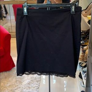 Skirt with lace underskirt